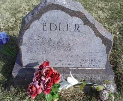EDLER, ROBERT W. - Ross County, Ohio   ROBERT W. EDLER - Ohio Gravestone Photos