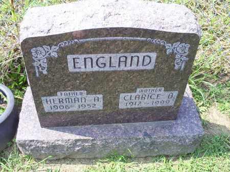 ENGLAND, CLARICE B. - Ross County, Ohio | CLARICE B. ENGLAND - Ohio Gravestone Photos