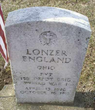 ENGLAND, LONZER - Ross County, Ohio   LONZER ENGLAND - Ohio Gravestone Photos