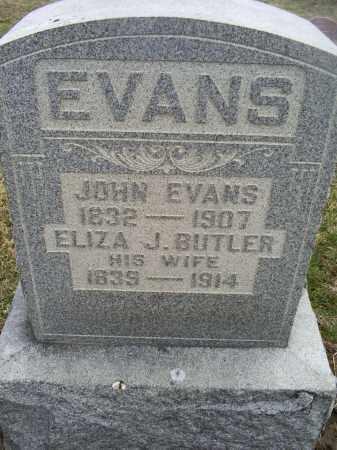 BUTLER EVANS, ELIZA J. - Ross County, Ohio | ELIZA J. BUTLER EVANS - Ohio Gravestone Photos
