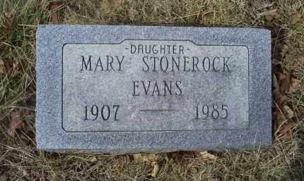 STONEROCK EVANS, MARY - Ross County, Ohio | MARY STONEROCK EVANS - Ohio Gravestone Photos