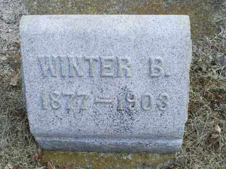 EVANS, WINTER B. - Ross County, Ohio | WINTER B. EVANS - Ohio Gravestone Photos