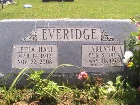 HALL EVERIDGE, LETHA - Ross County, Ohio   LETHA HALL EVERIDGE - Ohio Gravestone Photos
