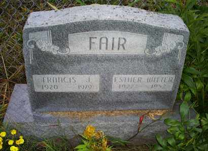 WITTER FAIR, ESTHER - Ross County, Ohio | ESTHER WITTER FAIR - Ohio Gravestone Photos