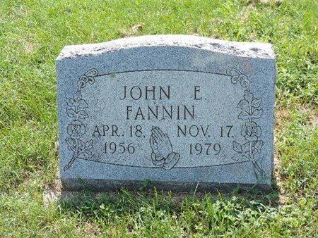 FANNIN, JOHN E. - Ross County, Ohio | JOHN E. FANNIN - Ohio Gravestone Photos