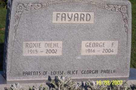 FAYARD, ROXIE - Ross County, Ohio | ROXIE FAYARD - Ohio Gravestone Photos