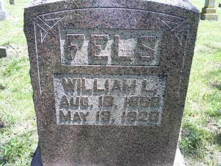 FELS, WILLIAM L. - Ross County, Ohio | WILLIAM L. FELS - Ohio Gravestone Photos