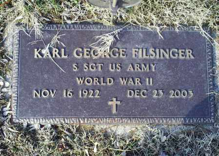 FILSINGER, KARL GEORGE - Ross County, Ohio | KARL GEORGE FILSINGER - Ohio Gravestone Photos