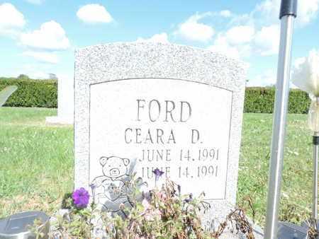 FORD, CEARA D. - Ross County, Ohio | CEARA D. FORD - Ohio Gravestone Photos