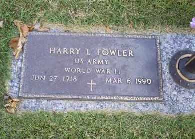 FOWLER, HARRY L. - Ross County, Ohio   HARRY L. FOWLER - Ohio Gravestone Photos