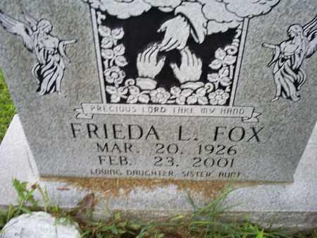 FOX, FRIEDA L. - Ross County, Ohio   FRIEDA L. FOX - Ohio Gravestone Photos