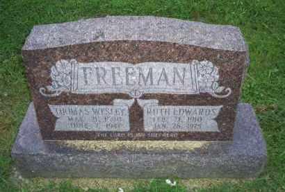FREEMAN, THOMAS WESLEY - Ross County, Ohio | THOMAS WESLEY FREEMAN - Ohio Gravestone Photos