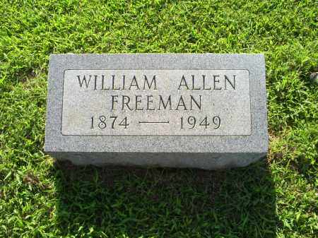 FREEMAN, WILLIAM ALLEN - Ross County, Ohio | WILLIAM ALLEN FREEMAN - Ohio Gravestone Photos