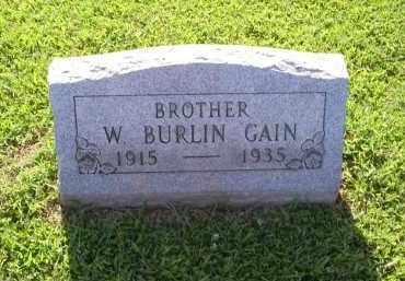 GAIN, W. BURLIN - Ross County, Ohio | W. BURLIN GAIN - Ohio Gravestone Photos