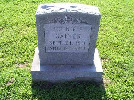 GAINES, JOHNIE E. - Ross County, Ohio | JOHNIE E. GAINES - Ohio Gravestone Photos