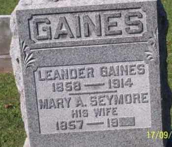 GAINES, LEANDER - Ross County, Ohio | LEANDER GAINES - Ohio Gravestone Photos