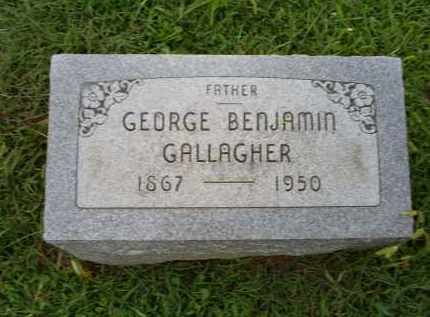 GALLAGHER, GEORGE BENJAMIN - Ross County, Ohio | GEORGE BENJAMIN GALLAGHER - Ohio Gravestone Photos
