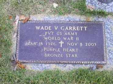 GARRETT, WADE V. - Ross County, Ohio | WADE V. GARRETT - Ohio Gravestone Photos