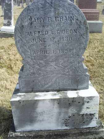 GRAIN GIDEON, MARY R. - Ross County, Ohio   MARY R. GRAIN GIDEON - Ohio Gravestone Photos