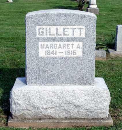 GILLETT, MARGARET A. - Ross County, Ohio | MARGARET A. GILLETT - Ohio Gravestone Photos