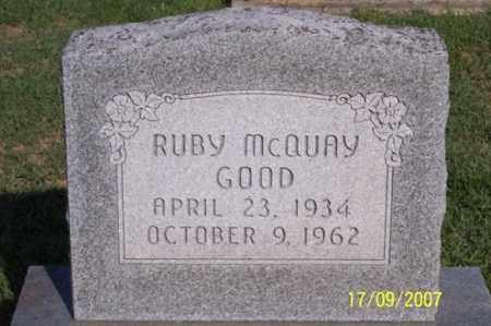 MCQUAY GOOD, RUBY - Ross County, Ohio | RUBY MCQUAY GOOD - Ohio Gravestone Photos