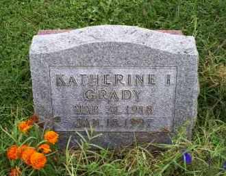 GRADY, KATHERINE I. - Ross County, Ohio   KATHERINE I. GRADY - Ohio Gravestone Photos