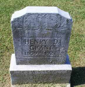 GRANT, HENRY D. - Ross County, Ohio   HENRY D. GRANT - Ohio Gravestone Photos