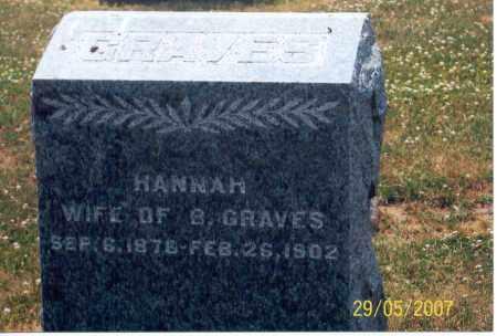 GRAVES, HANNAH - Ross County, Ohio | HANNAH GRAVES - Ohio Gravestone Photos