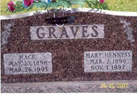 HENNESS GRAVES, MARY - Ross County, Ohio | MARY HENNESS GRAVES - Ohio Gravestone Photos