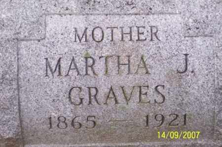 GRAVES, MARTHA J. - Ross County, Ohio | MARTHA J. GRAVES - Ohio Gravestone Photos