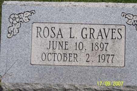 GRAVES, ROSA L. - Ross County, Ohio | ROSA L. GRAVES - Ohio Gravestone Photos