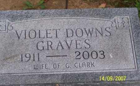 DOWNS GRAVES, VIOLET - Ross County, Ohio | VIOLET DOWNS GRAVES - Ohio Gravestone Photos