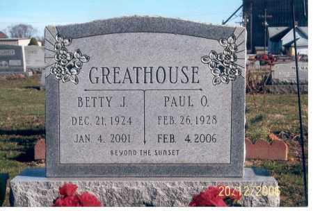 GREATHOUSE, BETTY J. - Ross County, Ohio | BETTY J. GREATHOUSE - Ohio Gravestone Photos