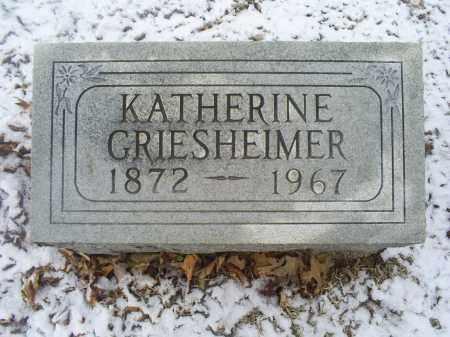 GRIESHEIMER, KATHERINE - Ross County, Ohio | KATHERINE GRIESHEIMER - Ohio Gravestone Photos