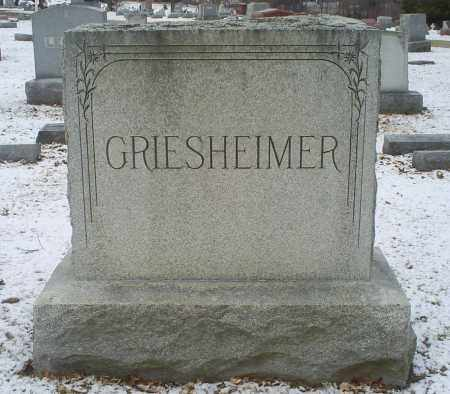 GRIESHEIMER, MONUMENT - Ross County, Ohio | MONUMENT GRIESHEIMER - Ohio Gravestone Photos
