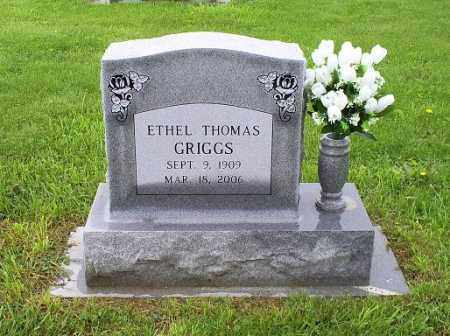 THOMAS GRIGGS, ETHEL - Ross County, Ohio | ETHEL THOMAS GRIGGS - Ohio Gravestone Photos