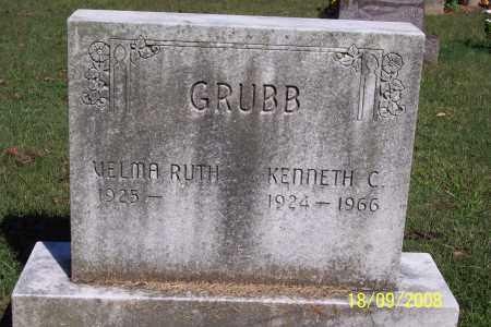 GRUBB, KENNETH C - Ross County, Ohio   KENNETH C GRUBB - Ohio Gravestone Photos