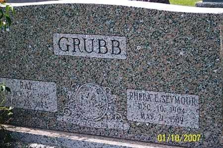SEYMOUR GRUBB, PHEBA E. - Ross County, Ohio | PHEBA E. SEYMOUR GRUBB - Ohio Gravestone Photos
