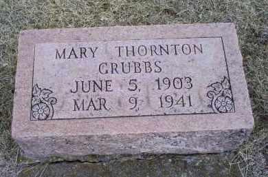 THORNTON GRUBBS, MARY - Ross County, Ohio | MARY THORNTON GRUBBS - Ohio Gravestone Photos