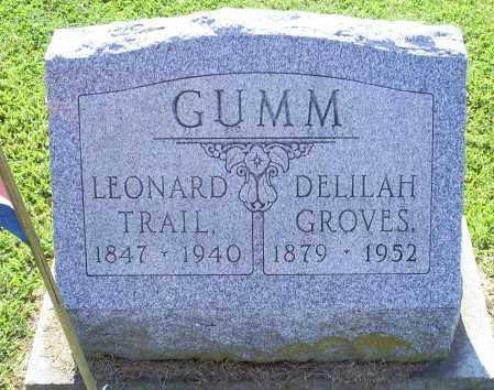 GROVES GUMM, DELILAH - Ross County, Ohio | DELILAH GROVES GUMM - Ohio Gravestone Photos