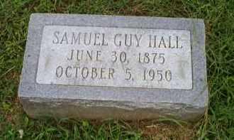 HALL, SAMUEL GUY - Ross County, Ohio   SAMUEL GUY HALL - Ohio Gravestone Photos