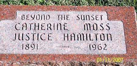 MOSS JUSTICE HAMILTON, CATHERINE - Ross County, Ohio   CATHERINE MOSS JUSTICE HAMILTON - Ohio Gravestone Photos
