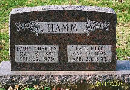 HAMM, LOUIS CHARLES - Ross County, Ohio | LOUIS CHARLES HAMM - Ohio Gravestone Photos