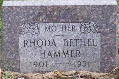 BETHEL HAMMER, RHODA - Ross County, Ohio   RHODA BETHEL HAMMER - Ohio Gravestone Photos