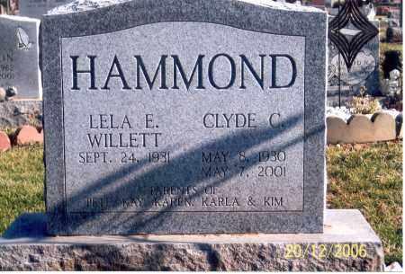 WILLETT HAMMOND, LELA ELLEN - Ross County, Ohio | LELA ELLEN WILLETT HAMMOND - Ohio Gravestone Photos