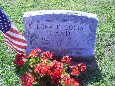 HAND, RONALD LEWIS - Ross County, Ohio | RONALD LEWIS HAND - Ohio Gravestone Photos