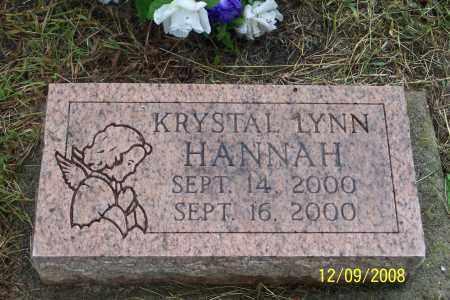 HANNAH, KRYSTAL LYNN - Ross County, Ohio   KRYSTAL LYNN HANNAH - Ohio Gravestone Photos
