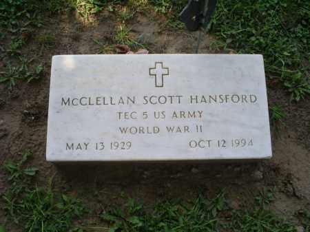 HANSFORD, MCCLELLAN SCOTT - Ross County, Ohio | MCCLELLAN SCOTT HANSFORD - Ohio Gravestone Photos