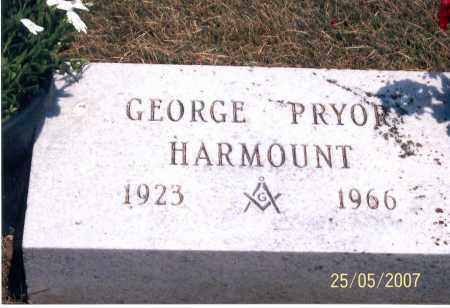 HARMOUNT, GEORGE PRYOR - Ross County, Ohio | GEORGE PRYOR HARMOUNT - Ohio Gravestone Photos