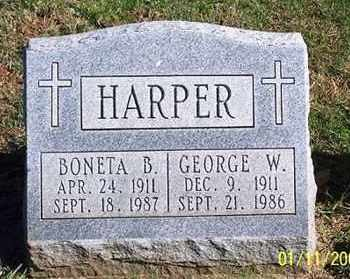 HARPER, GEORGE W. - Ross County, Ohio   GEORGE W. HARPER - Ohio Gravestone Photos